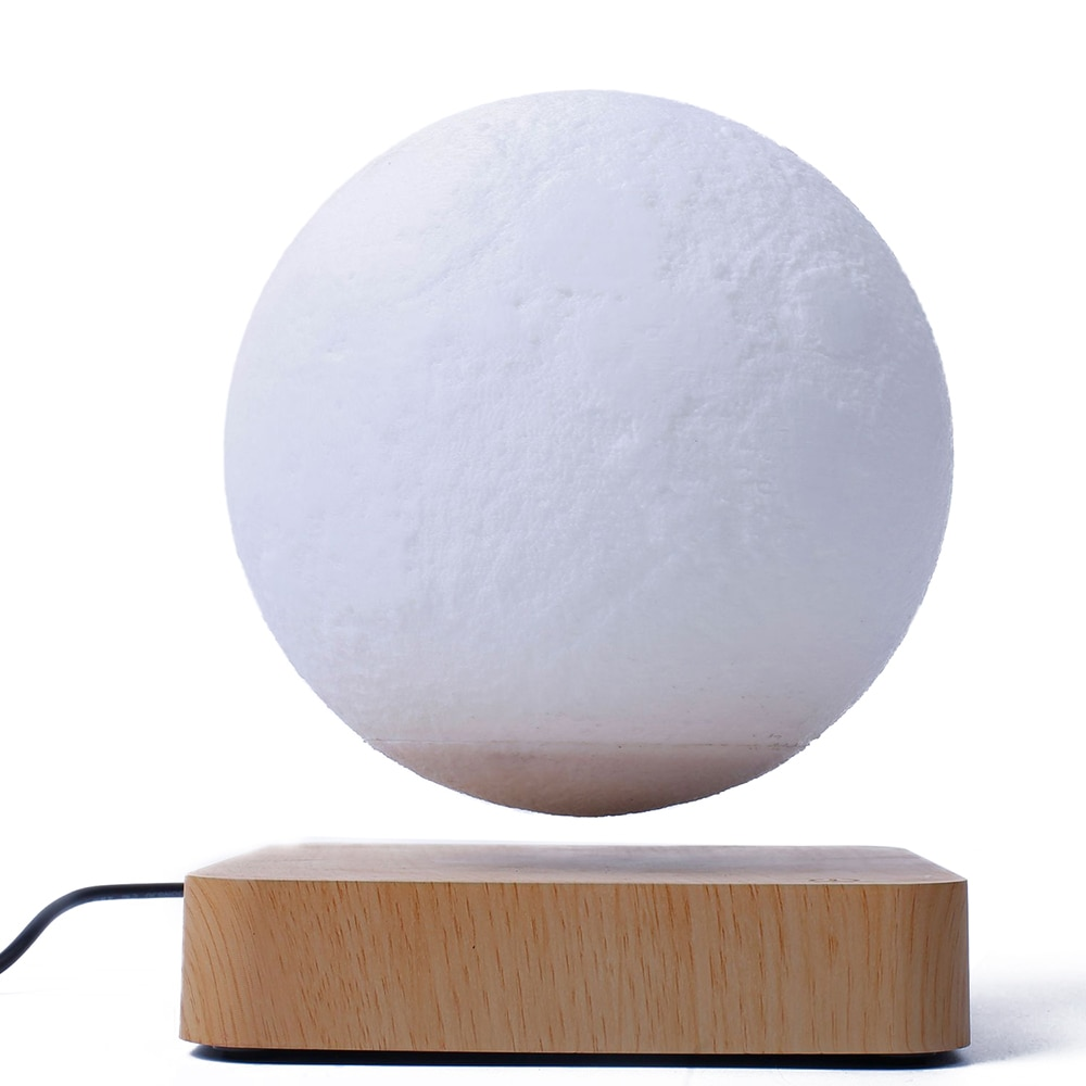 3D LED Moon Lamp Magnetic Levitation Floating Lamp Novelty Lighting Levitating Light Night Light Touch Dimmable Decor Table Lamp enlarge