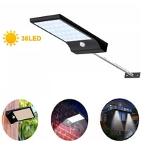 450lm 36led solar wall light outdoor with pir motion sensor 3 modes waterproof ip65 for path garage garden security street light
