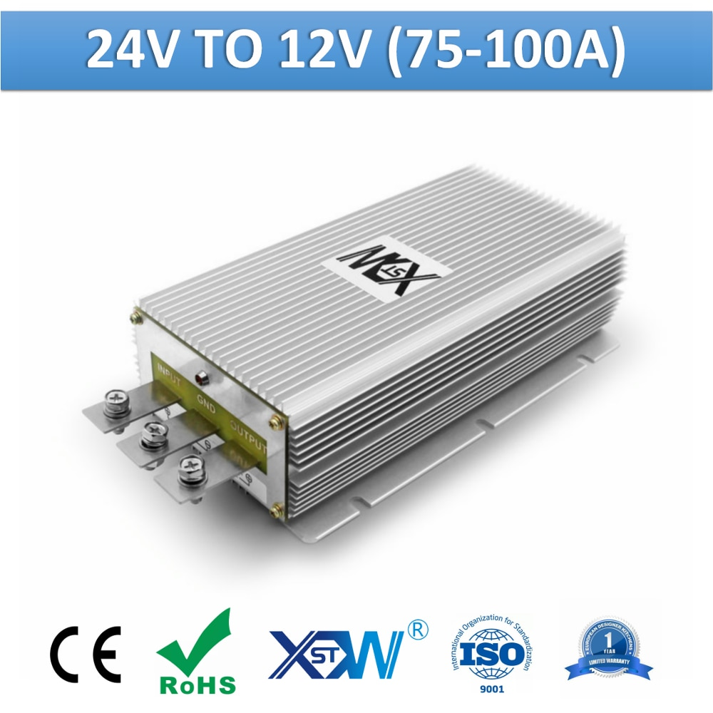 XWST-محول الجهد ، 24 فولت إلى 12 فولت ، 75 أمبير ، 85 أمبير ، 100 أمبير ، خرج عالي ، منظم جهد 12 فولت