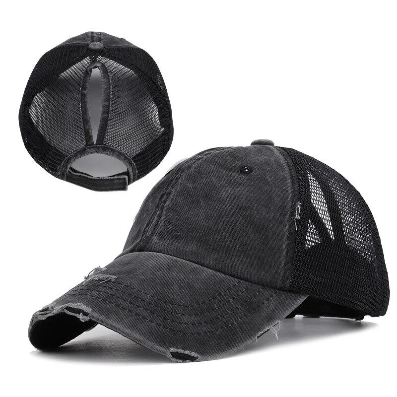 Gorra de béisbol para mujer, gorra de béisbol de cola de caballo, gorra de béisbol retro de alta calidad con agujero antiguo, gorra de béisbol transpirable, gorra de Sol de malla, novedad