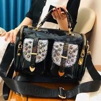 fashion handbag with colored diamonds new womens bag wide shoulder strap messenger carteras mujer de hombro y bolsos sac a main