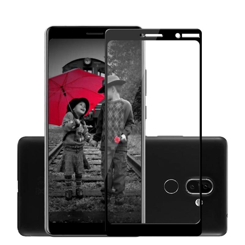 Vidrio templado para Nokia 7 Plus 3D 9H, cristal para Nokia 5,1 3,1 6,1 1 Plus, Protector de pantalla para Nokia 8 7 5 3 2 E1 6 X6 2018, película
