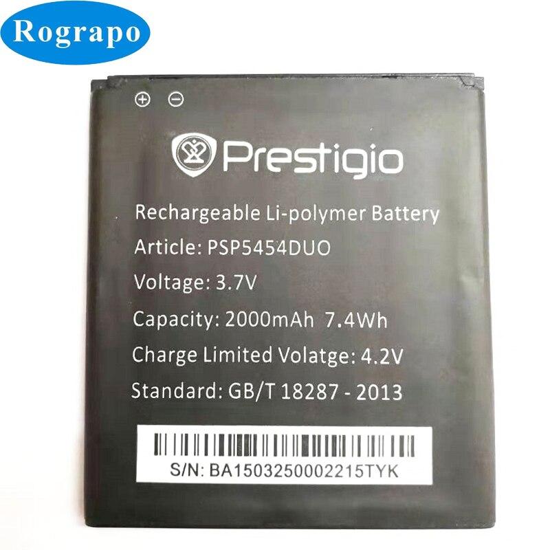 Original 2000mAh Replacement Battery For Prestigio MultiPhone PSP5454 DUO PSP5454DUO Bateria Batteri