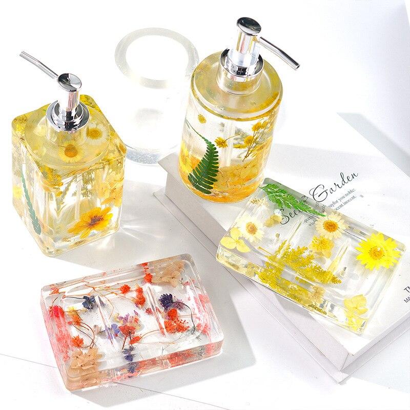 AliExpress - Hand Sanitizer Bottle Silicone Soap Mold Dispenser Bottle Perfume Bottle Epoxy Resin Mold Set DIY Handmade Craft Home Decoration