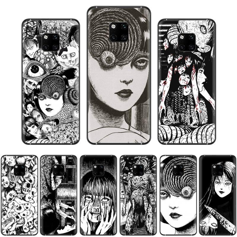 Junji Ito camisetas Horror de dibujos animados de lujo de la cubierta del teléfono para Huawei Mate 9 10 20 Pro lite 20x nova 3e P10 más P20 Pro Honor10 lite