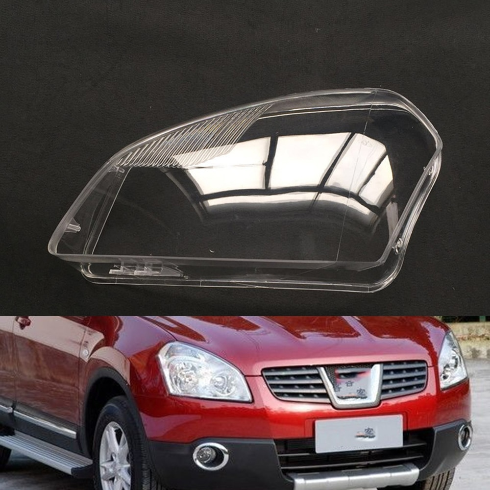 Car Headlamp Lens For Nissan Qashqai 2009 2010 2011 2012 2013 2014 2015  Car  Replacement   Auto Shell Cover