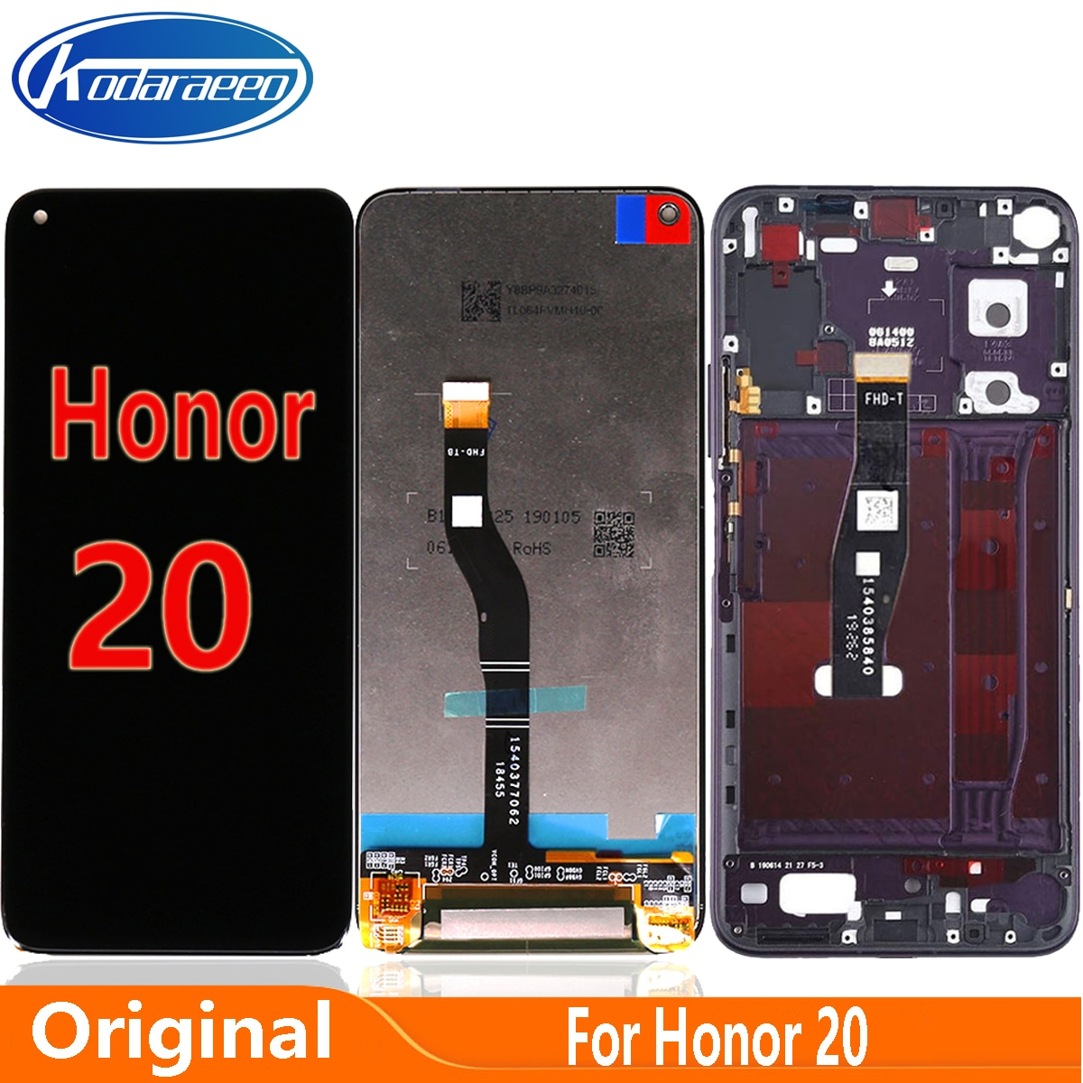 الأصلي شاشة لهواوي الشرف 20 LCD عرض تعمل باللمس محول الأرقام استبدال YAL-L21 YAL-AL00 شاشة LCD الزجاج YAL-TL00