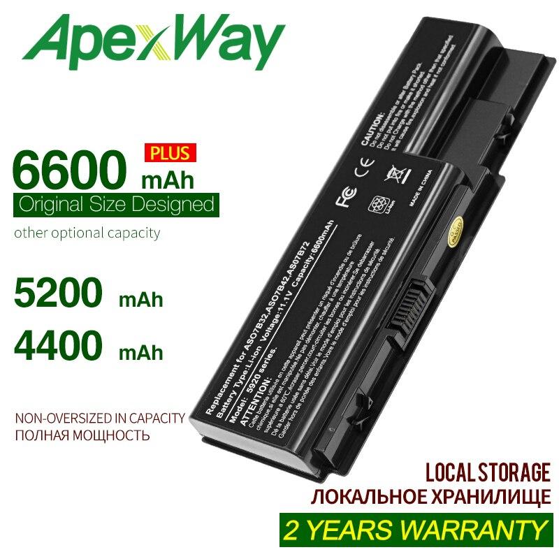 ApexWay as07b31 bateria para ACE 7730g lpatop AS07B31 AS07B32 AS07B41 AS07B42 AS07B51 AS07B52 AS07B61 AS07B71 para Aspire 5230 Ser