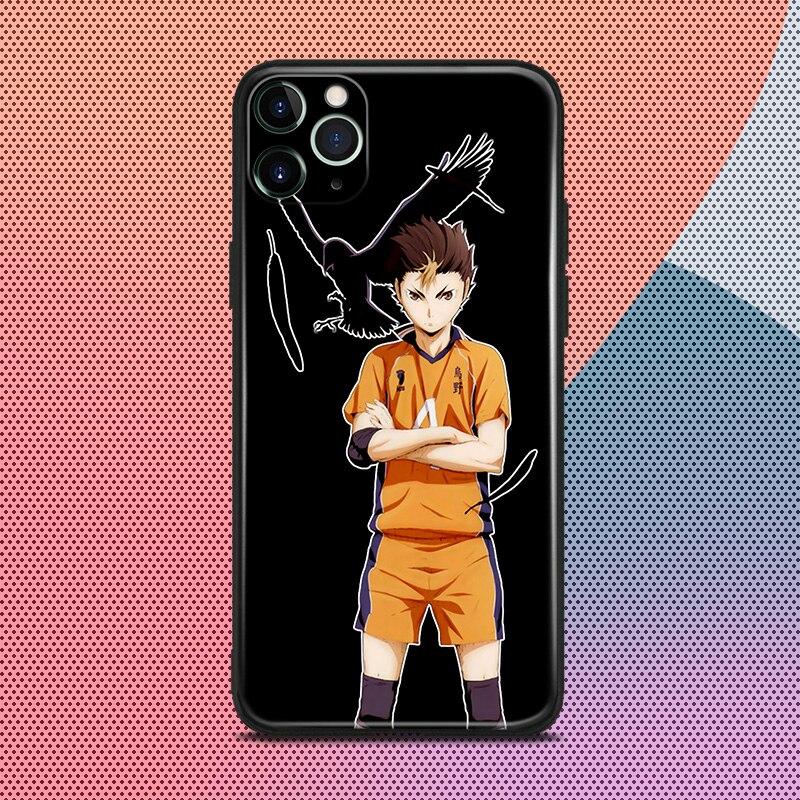 Tee-Yu anime para iPhone 6 6s 7 7 plus x xr xs 11 pro max de silicona suave cubierta de la caja del teléfono shell