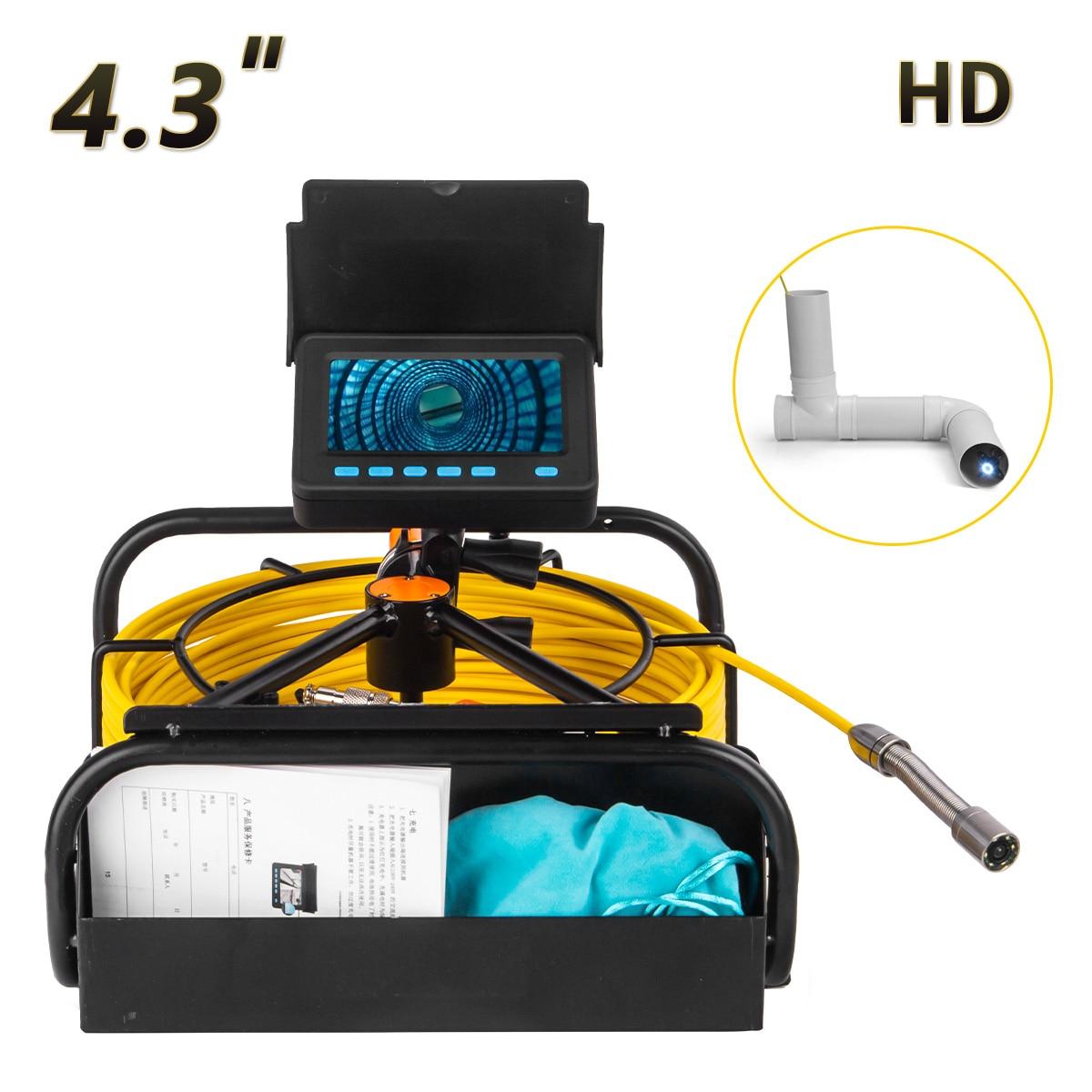 WP9604B الصناعية استنزاف مواسير صرف التفتيش كاميرا فيديو المنظار حجم صغير وسهل الحمل ، وبطاقة 16GB مجانية