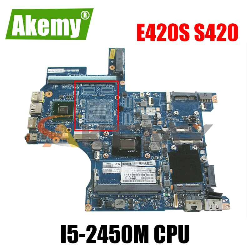 Akemy PILP1 LA-6921P اللوحة لينوفو ثينك باد E420S S420 المحمول اللوحة CPU I5 2450 متر DDR3 HM65 العمل