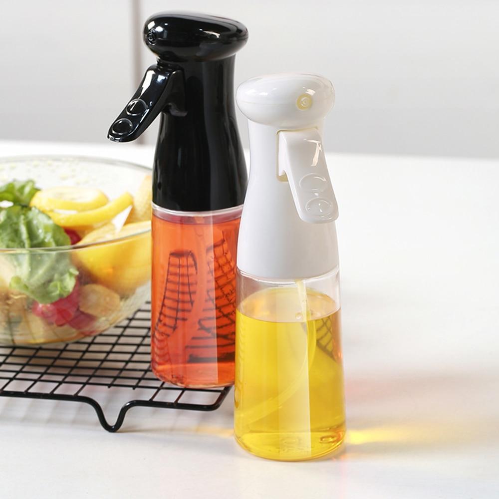 Botella de spray de aceite Cocina Hornear Vinagre Rociador Botella de spray de barbacoa 200ml Material de plástico Herramientas de cocina Dispensación de horneado asado