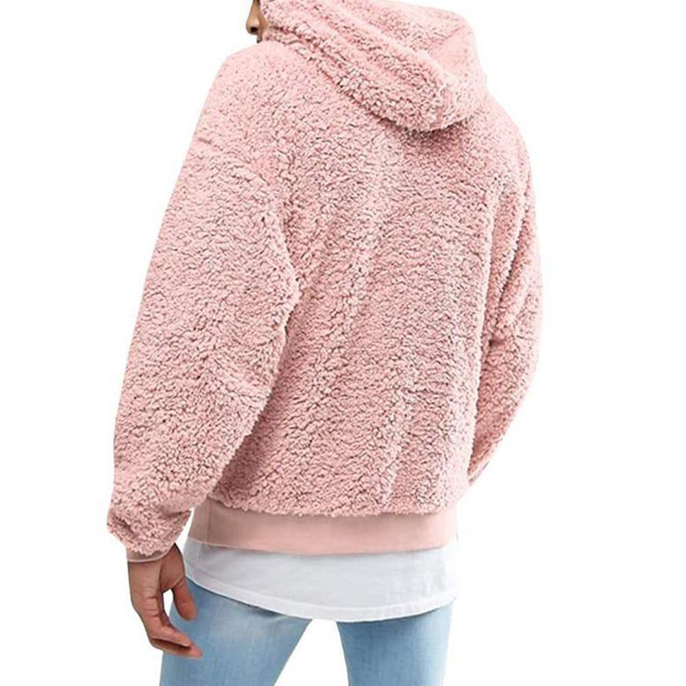 2019 Winter Warm Men Winter Thick Hoodies Fluffy Fleece Fur Jacket Hooded Coat Outerwear Long Sleeve Cardigans