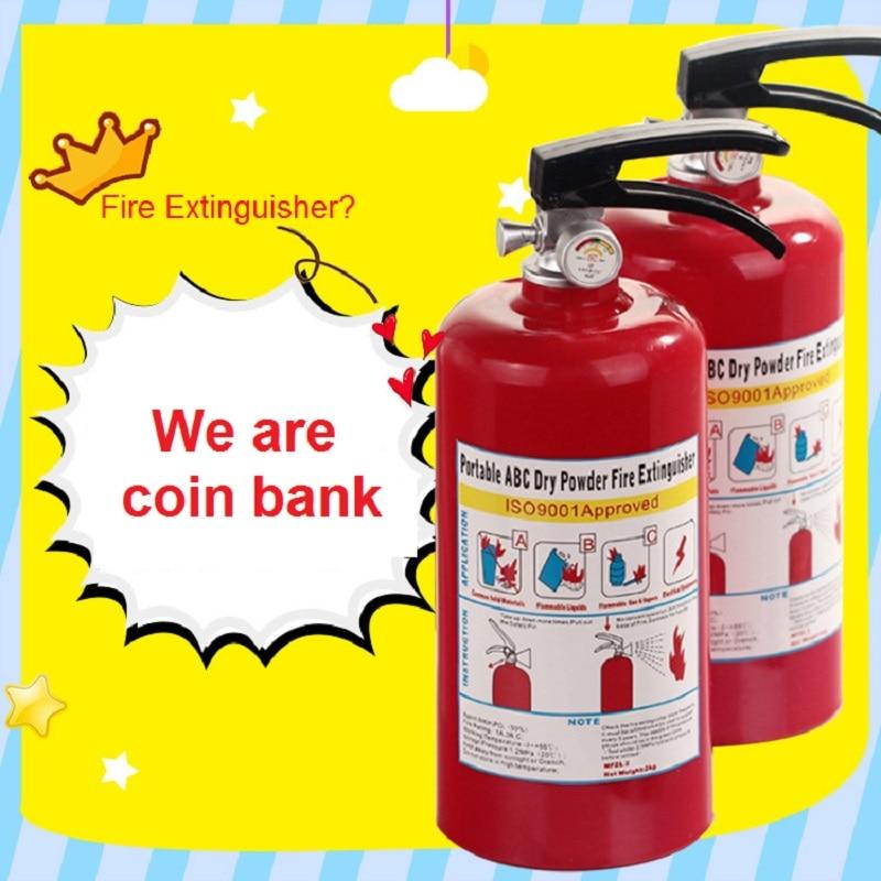 Огнетушитель, оригинальный контейнер для хранения монет, портативный ABC сухой порошок, огнетушитель, копилка для денег