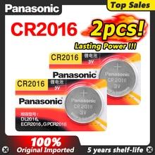 Panasonic batterie au Lithium de qualité supérieure 2 pièces/lot 3V cr 2016 DL2016 ECR2016 cr2016 bouton batterie montre pièces de monnaie piles pour jouets