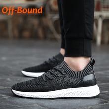 Off-Bound Summer Men Tennis Shoes Breathable Knit Platform Running Sneakers Sport Training Shoes Men