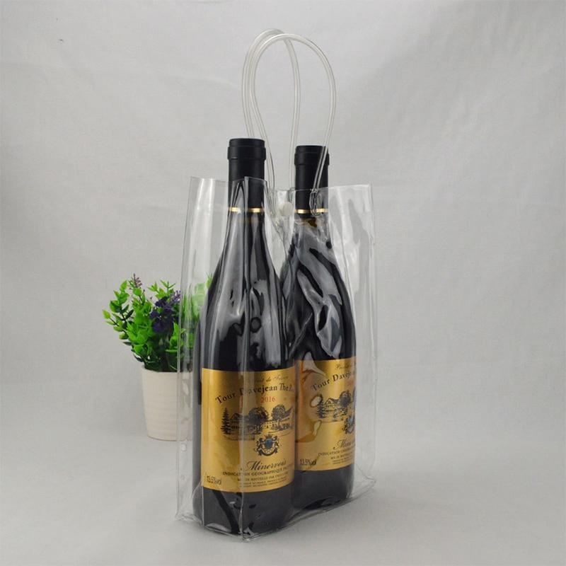 Nuevo bolso de vino para hielo transparente plegable, bolso refrigerador portátil para fiestas al aire libre, bolso para cervezas 2020