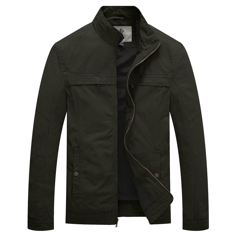 Мужская куртка в стиле милитари, легкая весенняя куртка, мужская повседневная куртка с воротником