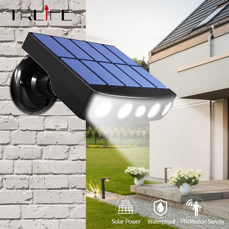 Powerful Solar Light Outdoor Motion Sensor Waterproof Garden LED Solar Lamp Spotlights For Garden Path Street Led Wall Light