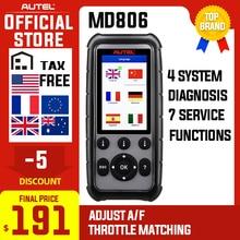 Autel MaxiDiag MD806 OBDII Car Diagnostic Tool OBD OBD2 Scanner Automotive  Code Reader PK MD808 MD802 CRP129 Free Update
