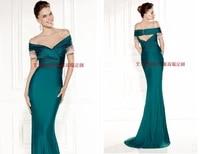 fashion formal prom gown vestido de festa robe de soiree sexy boat neck beading short sleeve mermaid 2018 bridesmaid dresses