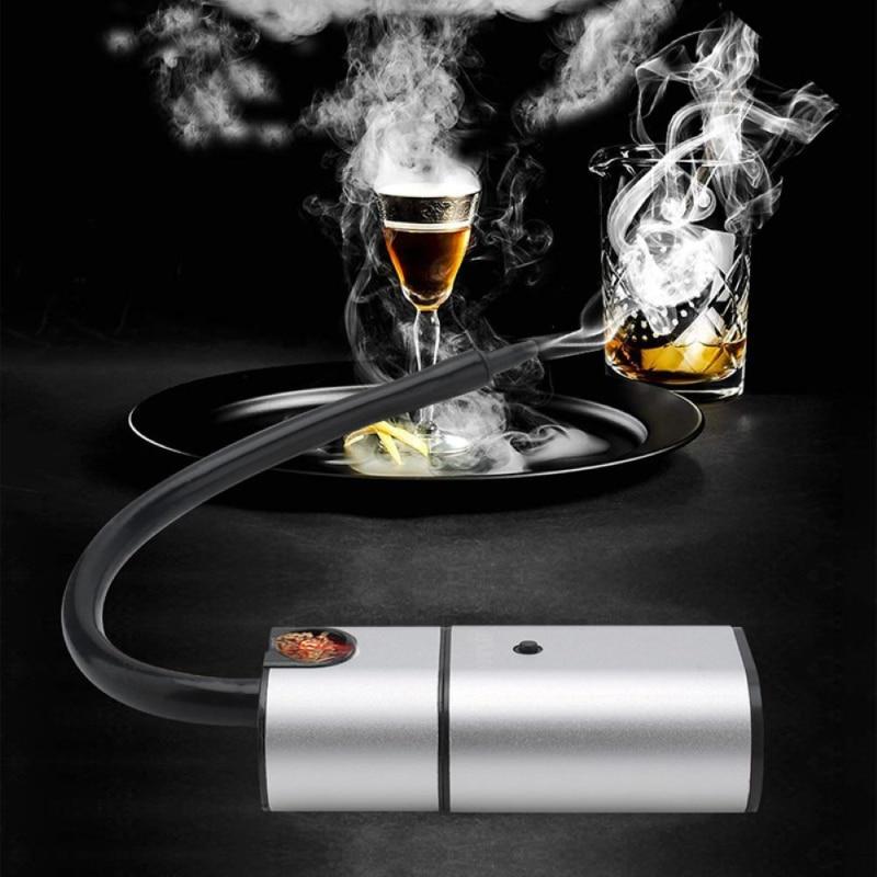 1 unidad de Smoker manual cocina Molecular coctel Steak Smoker cocina serrín manguera Material cocina herramienta plástico sellado contenedor