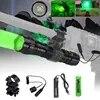 Lampe de poche tactique LED pour la chasse torche interrupteur à pression télécommande batterie 18650 support chargeur