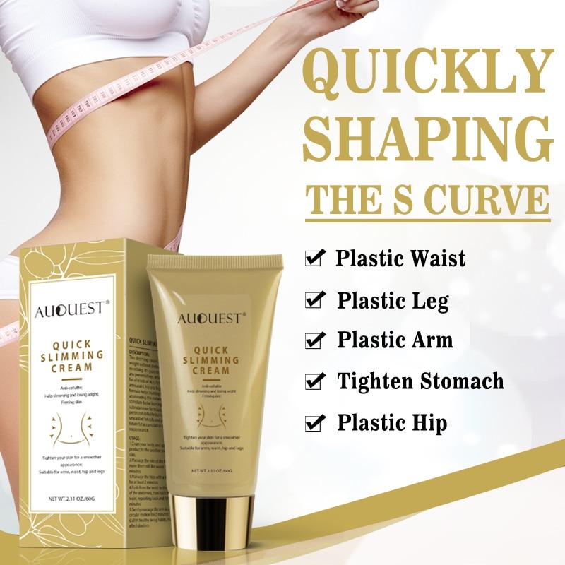 Auquest Slimming Body Cream Fat Burning Body Cream Cellulite Remover Reducing Gel Massage Lotion 60g Quick Lose Weight Hot 328