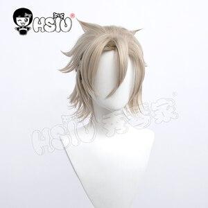 Albedo cosplay wig game Genshin Impact cosplay 「HSIU 」Fiber synthetic wig  Light linen short hair Free gift Brand wig Cap
