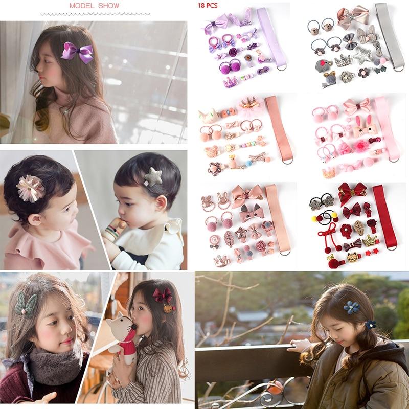 18 buc set de agrafe pentru păr, accesorii drăguțe pentru păr, - Accesorii pentru haine - Fotografie 2