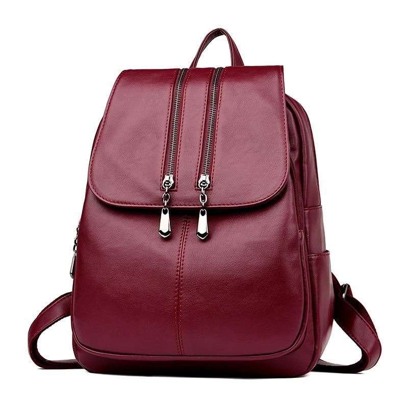 2019 женские кожаные рюкзаки, Высококачественная Дорожная сумка на плечо, женский рюкзак, винтажный рюкзак, женский рюкзак