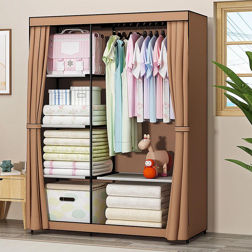 Modern Storage Cabinet Non-woven Cloth Cabinet Dustproof Closet Bedroom Furniture