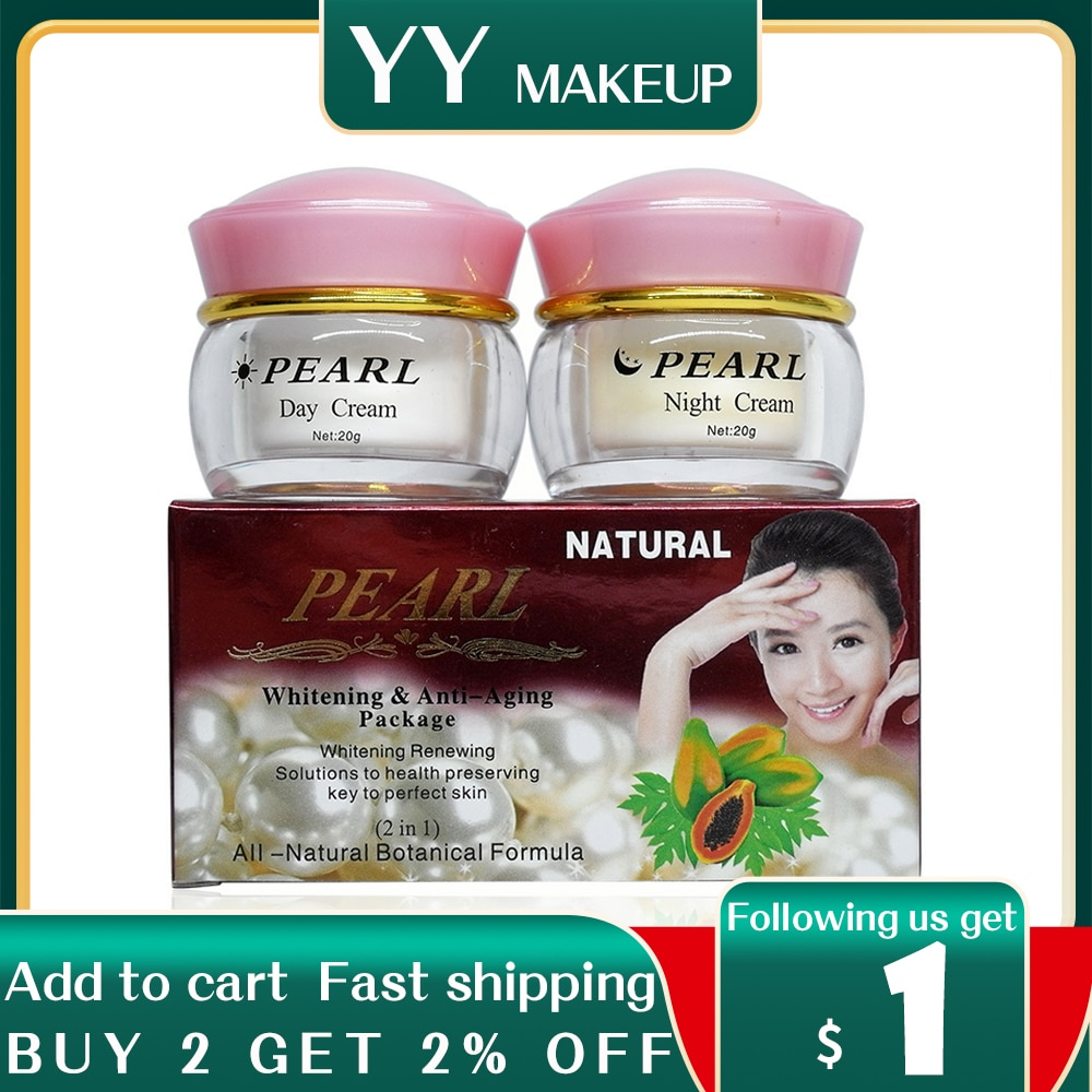 moisturizers deep hydration face cream anti aging anti wrinkles whitening wrinkle removal face cream High quality Pearl whitening & anti aging anti wrinkle face cream 2bottles in one box