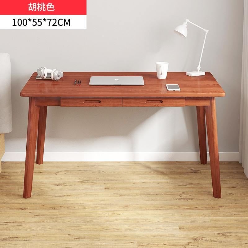Компьютерный стол орехового цвета с ножками из массива дерева, офисные письменные столы, стол для учебы, общежитие, студенческий стол, офисн... складные письменные столы для школьника купить