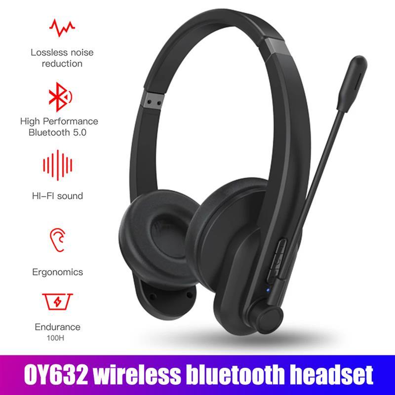 OY632 BT سماعات لاسلكية بلوتوث 5.0 سماعة سماعة الهاتف الكمبيوتر اجتماع الألعاب مع هيئة التصنيع العسكري إلغاء الضوضاء سماعات بلوتوث