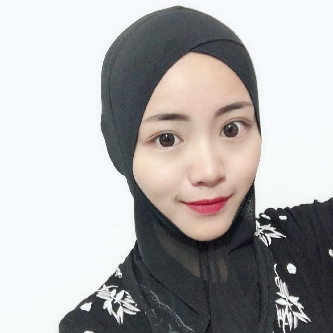 mesh  islamic hijab Muslim head coverings inner hijab scarf full cover turban women instant hijab stretch jersey cap headscarf