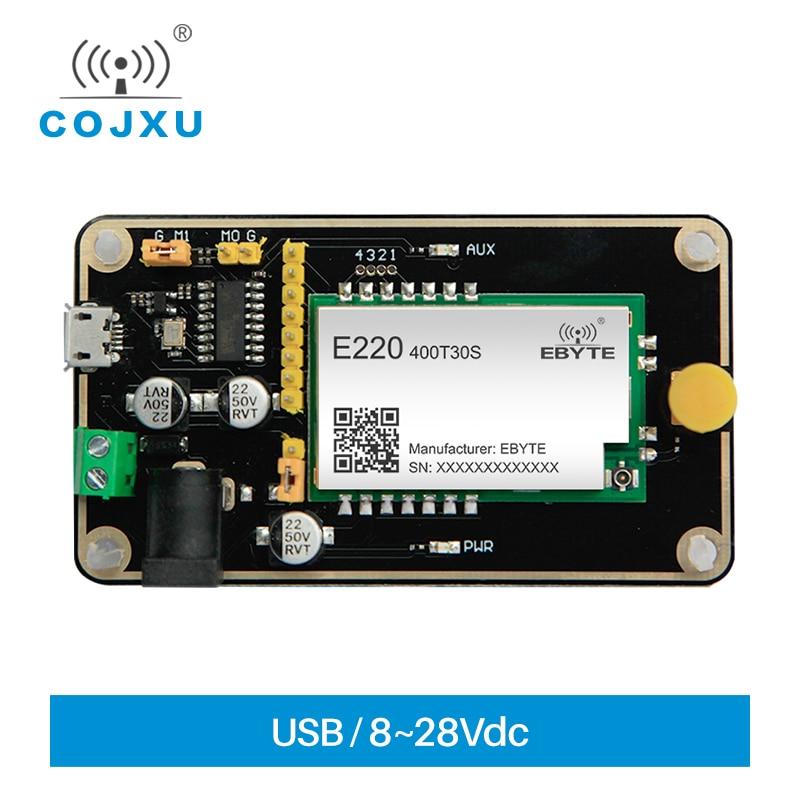 Тесты доска LLCC68 LoRa модуль 433 МГц 470 Тесты комплект USB Интерфейс и телевизионные антенны UART Беспроводной модуль E220-400TBH-01