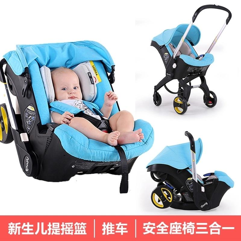Cochecito de bebé 3 En 1 con asiento de coche Cochecito de...