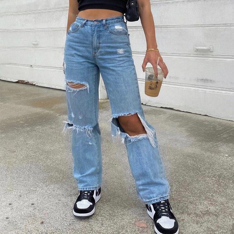 Женские джинсы, брюки, рваные женские джинсы с дырками, женские джинсы, женские джинсы, джинсы для мам с высокой талией