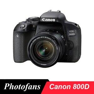 Цифровая зеркальная камера Canon 800D / T7i с объективом 18-55 мм