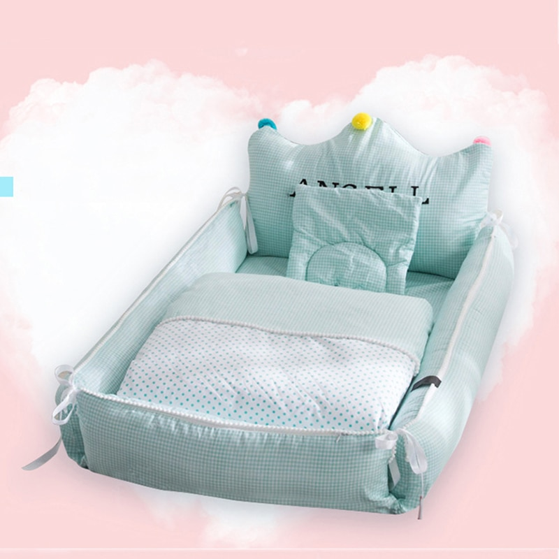 Removable Newborn Bed Baby Cot Nest Bed In Bed Baby Protect Cradle Cushion Bumper Portable Travel Crib For Newborn Babynest