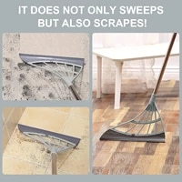 multifunctional magic broom sweeper remove dirt and hair rubber mop water sweepe with squeegee glass wiper for room bathroom