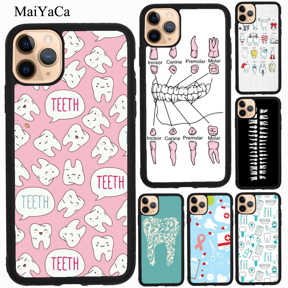 MaiYaCa, funda de TPU para dentistas, Dental, enfermero, para iPhone 11 Pro Max XR X XS Max 5S SE 2020 6S 7 8 Plus, funda