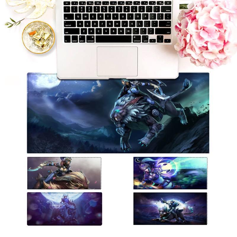 Большой коврик для мыши XXL dota2 Luna, игровой коврик для клавиатуры, Настольный коврик для мыши, игровые аксессуары для Overwatch