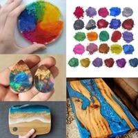 4pcsset diy handmade pearlescent mica powder epoxy glue resin soap mold crystal pigment pigments dye makin pearl resin mat k7g1