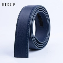 HIDUP Good Quality Real Genuine Leather Automatic Model Belt for Men Blue Colour Strap Only Without Buckle 3.5cm Width LUWJ17