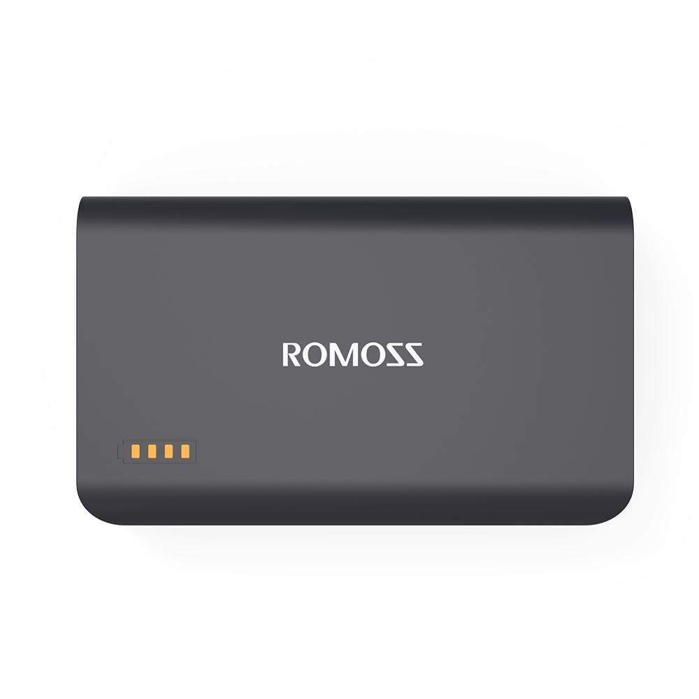 Romoss Schwarz Sinn X 10000mAh Schnelle Ladung Power Bank QC 2,0 Tragbare Dual USB Ausgang für Handys Tablet PC