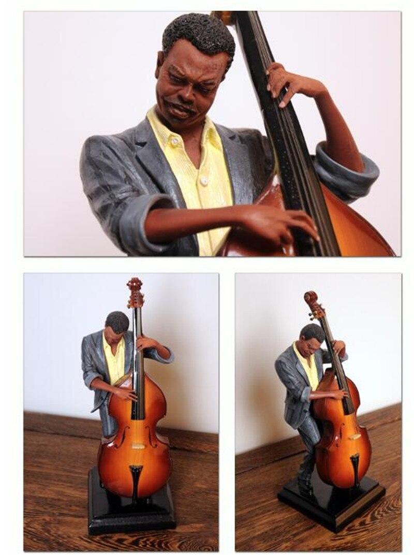Bass Player Sculpture - Bassspieler Skulptur Bassist 29cm