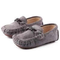 girls loafe shoes real leather 2021 brand new baby single shoes soft sole childrens shoes little boy spring and autumn