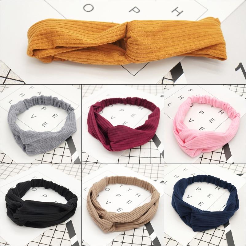 Лидер-продаж-новинка-сплошной-цвет-крест-вязаный-пояс-для-волос-в-Корейском-стиле-женские-крест-волос-жгут-повязка-на-голову-оптовая-прода